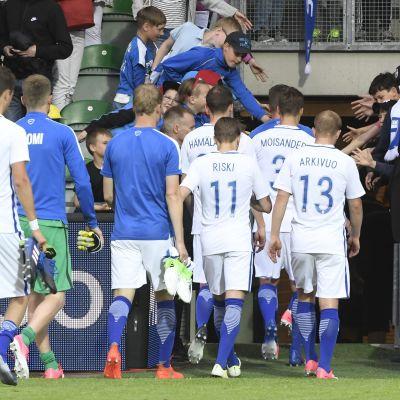 Finlands fotbollslandslag fick nöja sig med 1-1 mot Lichtenstein i onsdags.
