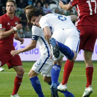 Mehmet Hetemaj nickar mål, Finland-Liechtenstein 2017.