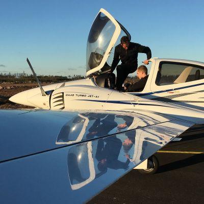 lentokone, pienkone, Pyhtään lentokenttä, Pyhtään lentopaikka, lentäjät