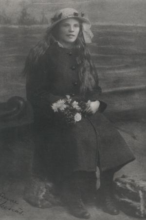 Maria Åkerblom som ung predikant.