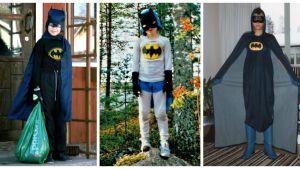"""Kolme """"Suomen Batmania"""", osa Teeman Batman-kesän 2015 valokuvakeräystä."""
