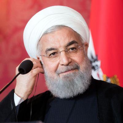 Irans president Hassan Rouhani under ett besök i Österrike den 4 juli.