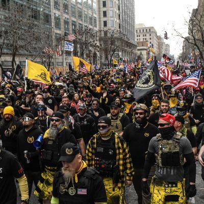 Demonstranter i Washington.