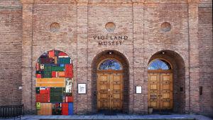 Installation i en av dörrvalven på Viegelands konstmuseum i Oslo, Michael Johansson.