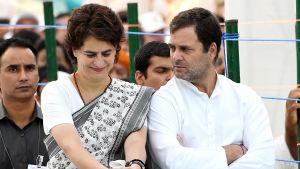 Rahul och Priyanka Gandhi som leder det Indiska Kongresspartiet, ser ut att ha gjort ett katastrofval för andra gången i rad