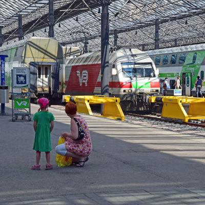 Vy från järnvägsstationen i Helsingfors.