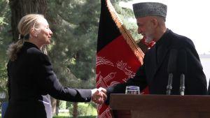Clinton och Karzai höll en gemensam presskonferens
