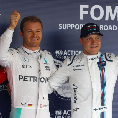 Sebastian Vettel, Nico Rosberg, Valtteri Bottas