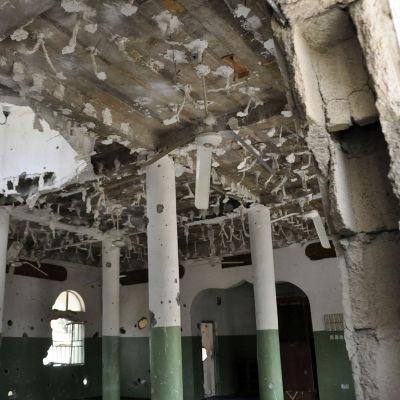 En moské som har varit ett tillhåll för Boko Haram i Nigeria