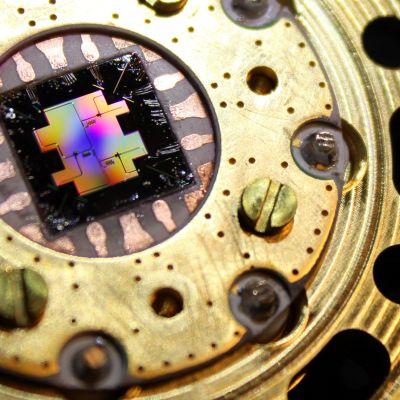 Kvanttitietokoneissa käytettävä quantum-siru