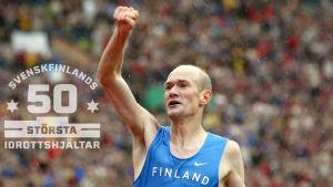 Janne Holmén vinner EM-guld i maraton 2002.