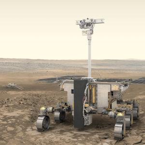 ExoMars-kulkija Marsin pinnalla.