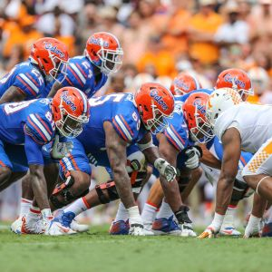 Florida Gators offensiva linje.