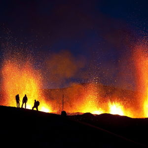 Eyjafjallajockull-tuolivuoren purkaus, Islanti 24.3.2010.