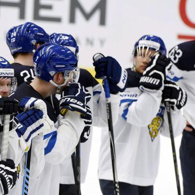 Finlands lag efter förlorad öppningsmatch, VM 2015.