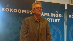 Bjarne Kallis ställer upp för Samlingspartiet i riksdagsvalet 2015.