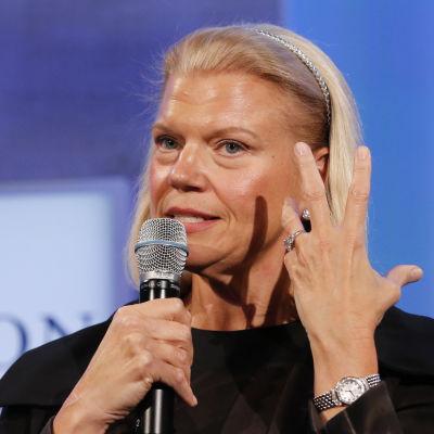 IBM:s koncernchef Ginny Rometty i New York i september 2014
