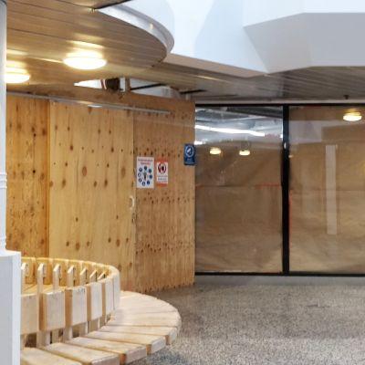 Forumin liikekiinteistön tiloja Jämsän keskustassa.