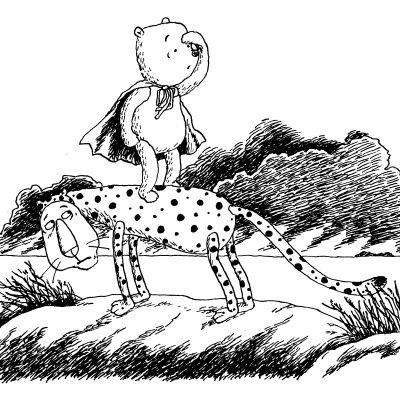 nagu-nalle i teckning av Christel Rönns
