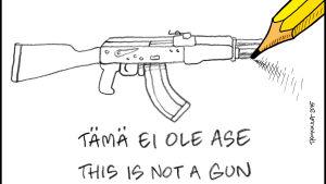 kynä piirtää asetta