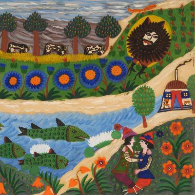 Verk av Maria Primatsjenko på Aboa Vetus & Ars Nova i Åbo.