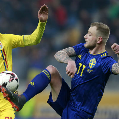 Dragos Grigore och John Guidetti, Rumänien-Sverige.