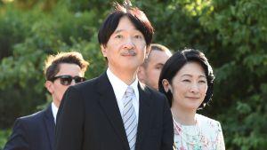 Japans kronprins Akishino och kronprinsessan Kiko