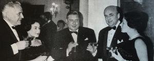 Vasemmalta oikealle Alfons Almi, rva Palmroth, Tauno Pylkkänen ja Gunnar Palmroth.