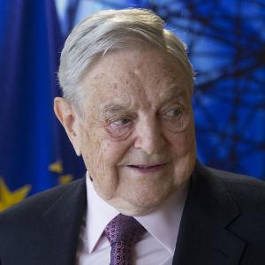 Den ungerskfödda miljardären och filantropen George Soros.