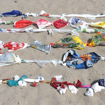 Manifestation mot den miljöfara som plastpåsar utgör. Tyskland den 17 juli 2013.