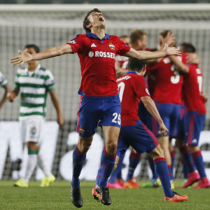 Glädje för CSKA och Roman Eremenko.