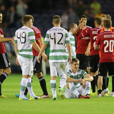 Celtic mot Legia Warszawa i den tredje kvalomgången till Champions League år 2014.