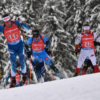 Viron Rene Zahkna, Suomen Tuomas Harjula, Ranskan Antonin Guigonnat ja Puolan Andrzej Nedza-Kubiniec.