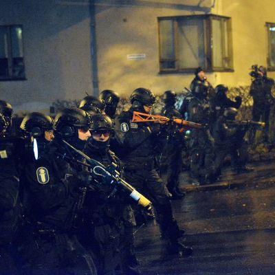 Polisen använde tryckluftsvapen under demonstrationen i Helsingfors på självständighetsdagen