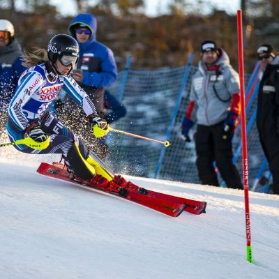 Nella Korpio, FIN during the Alpine Skiing World Cup Women's slalom race at Levi 17. November 2018 in Levi, Finland.