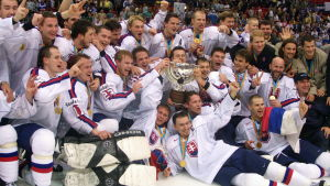Slovakerna firar VM-guldet i Göteborg.