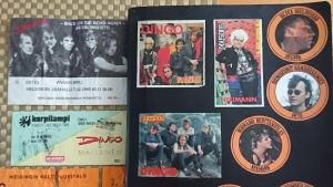 Dingo-aiheisia pääsylippuja ja kuvia.