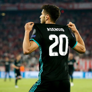 Marco Asensio gjorde 2-1 till Real Madrid.