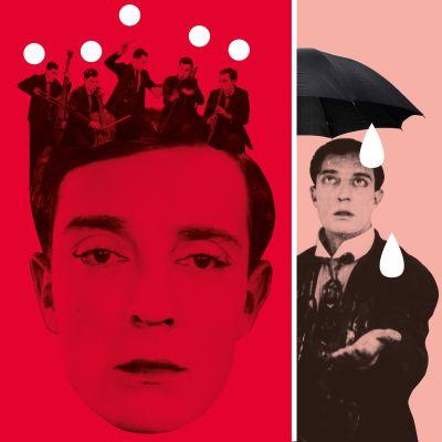 Buster Keaton. Teeman elokuvafestivaalin 2016 visuaalista ilmettä.