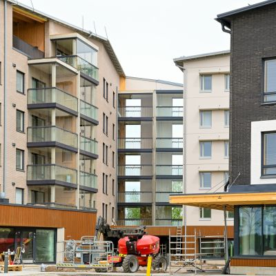 Höghusområdet på bostadsmässan 2021 inrymmer flera boendeformer.