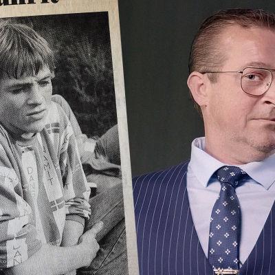 Herman Himle nuorena vuonna 1978 ja tänä päivänä.