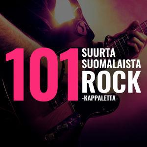 """Kuva kitaristista sekä teksti """"101 suurta suomalaista rock-kappaletta"""""""