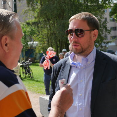 Paavo Arhinmäki i Björneborg under Suomi-areena 2015.