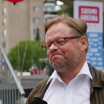 Riksdagsledamot Juhana Vartiainen under suomi-areena i Björneborg 2015.