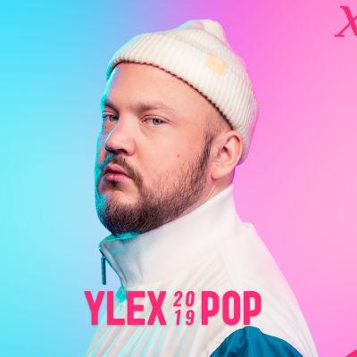 Pyhimys YleXPop-mainosjulisteessa.