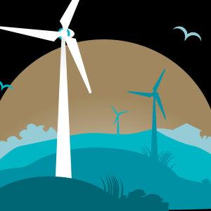 Kuva tuulivoimaloista