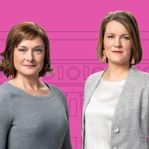 Jonna Nupponen och Marianne Sundholm. Valdebatt