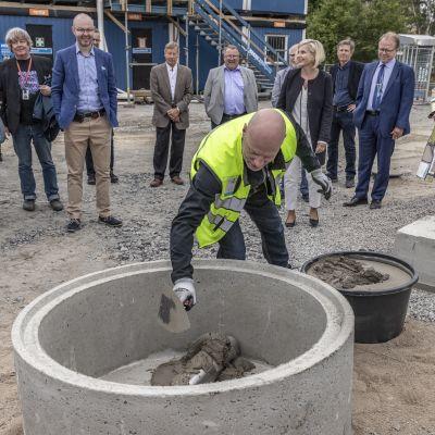 Jyväskylän Tourulan vankilan peruskivi muurattiin 1.8.2019.