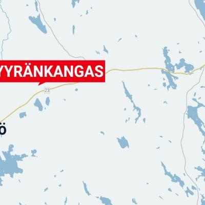 Myyränkangas on Kihniössä tien 23 pohjoispuolella.