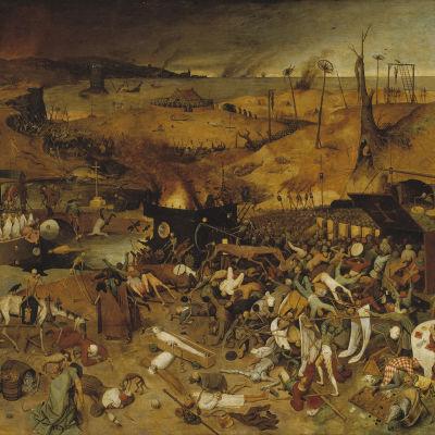 Pieter Breughel vanhemman kuva mustasta surmasta.